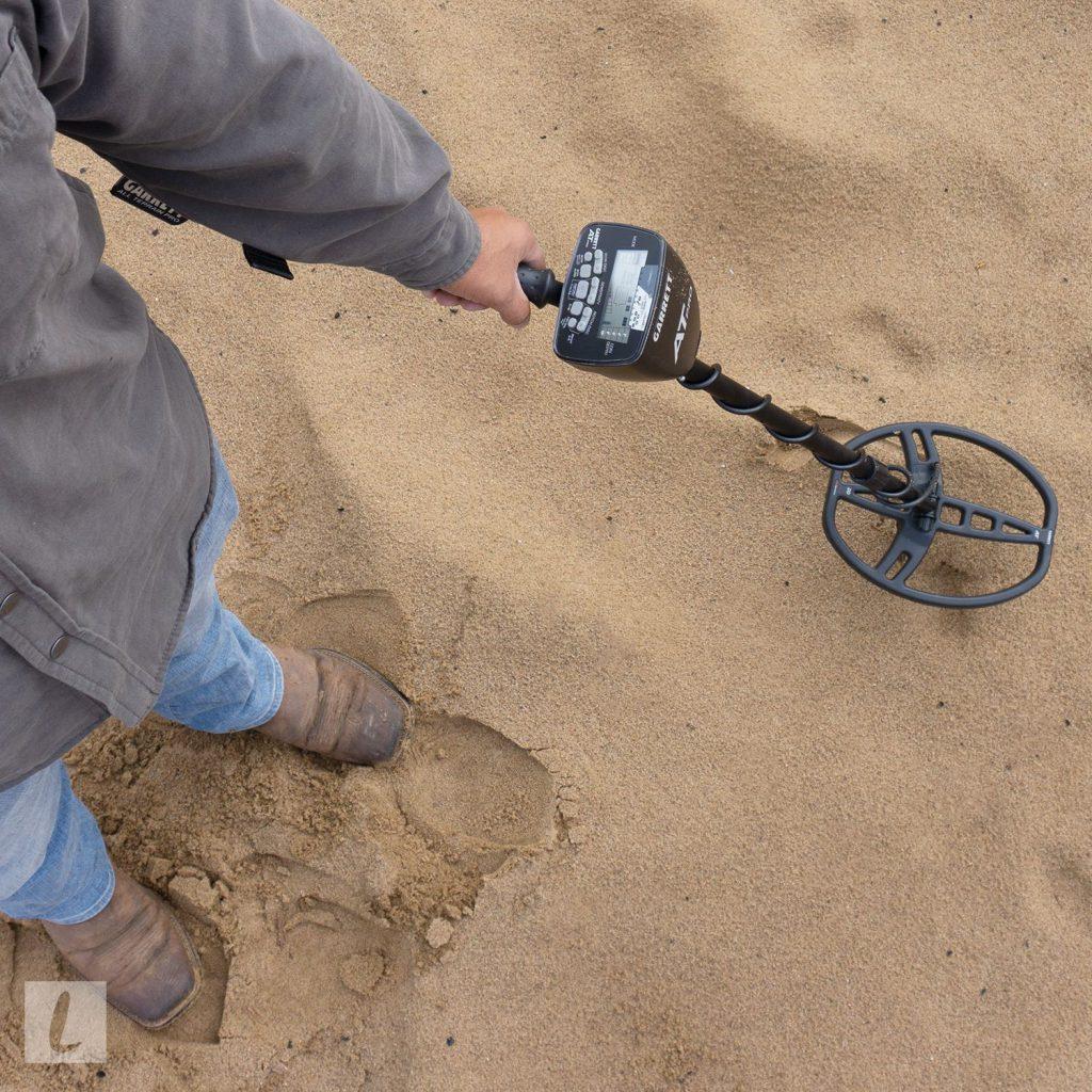 metal detecting in sand