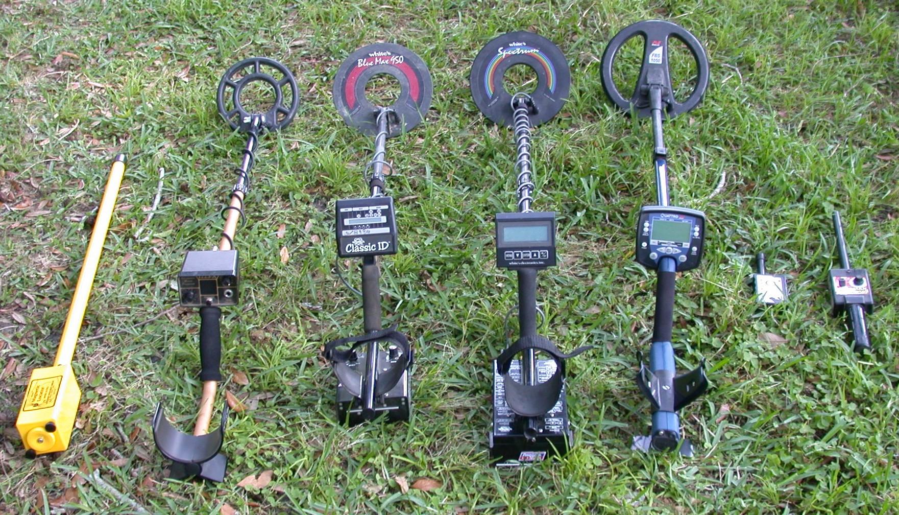metal detectors - different models